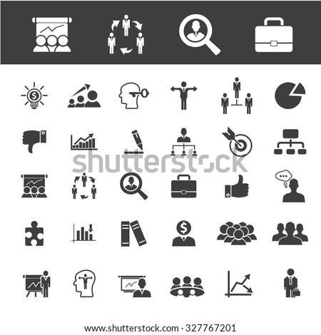 career, job, headhunter icons - stock vector