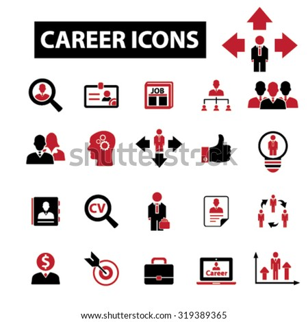 career, job icons - stock vector