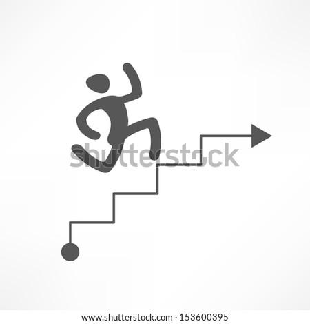 Career ladder  - stock vector