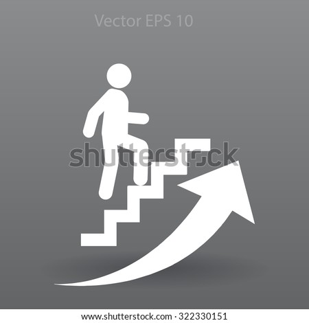 Career ladder vector icon - stock vector