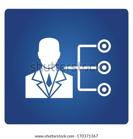 Career Path Job Description Duty Diagram Stock Vector