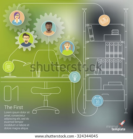 Career  teamwork abstract vector  template. - stock vector