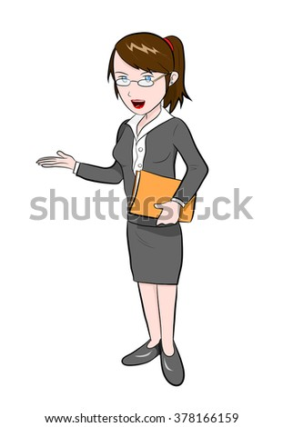 Career Woman, a hand drawn vector illustration of a career woman.