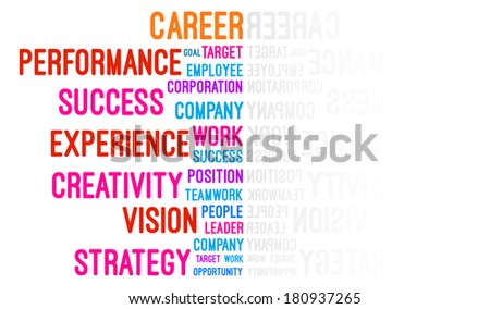 Career Word Cloud Concept Vector