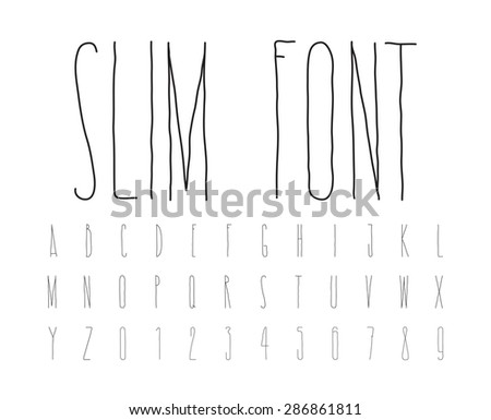 Careless decorative letters written by hand - stock vector