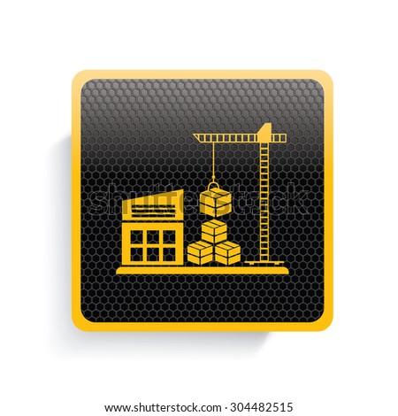 Cargo and shipping icon design,yellow version,clean vector - stock vector