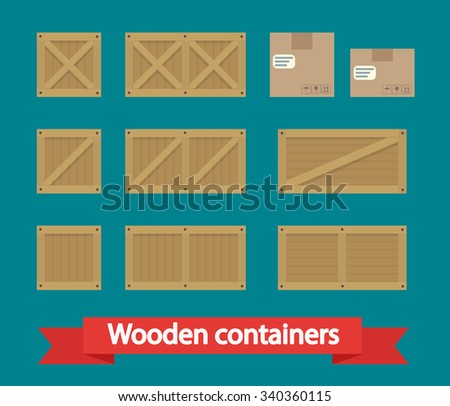 Cargo Boxes icon vector. Flat icon isolated on the white background. Vector illustration. - stock vector