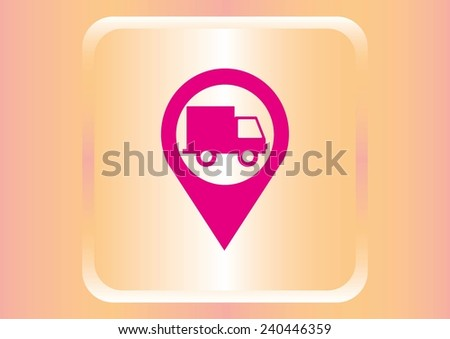 cargo insurance  guarantee of delivery icon - stock vector