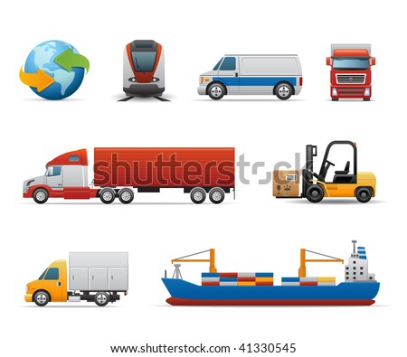 Cargo & Logistic icons - stock vector