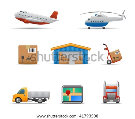 Cargo & Logistic icons, set # 2 - stock vector