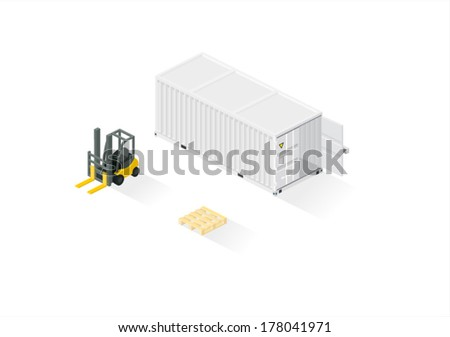 Cargo set - stock vector