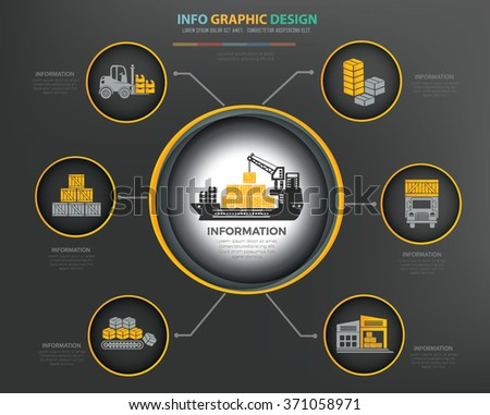 Cargo,shipping,logistic Infographics Design,clean vector - stock vector