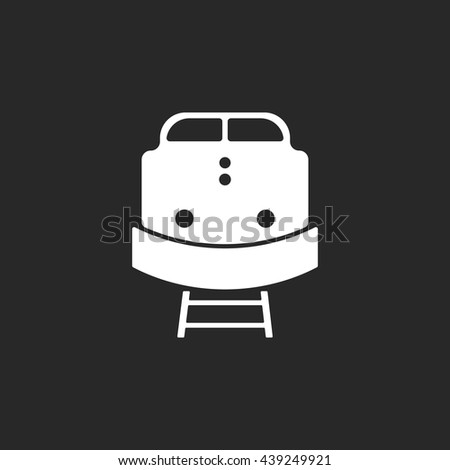Cargo train front sign simple icon on background