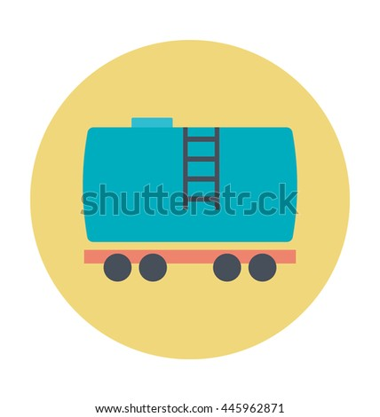 Cargo Train Vector Icon - stock vector
