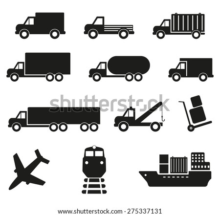 cargo transportation, vector - stock vector