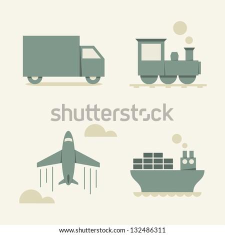 cargo transportation - vector illustration - stock vector