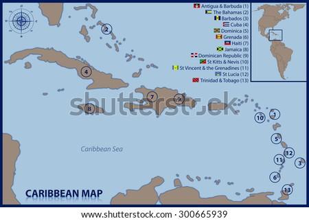 Caribbean Map Stock Images RoyaltyFree Images Vectors - Antigua barbuda map caribbean sea