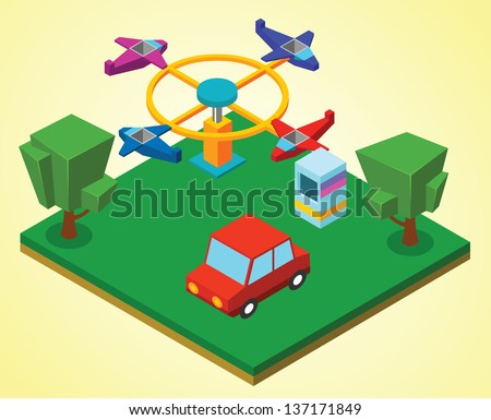 Carnival airplanes - stock vector