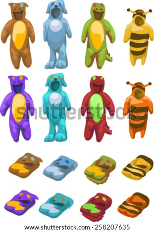 carnival costume set - stock vector
