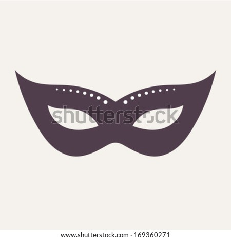 Carnival mask isolated. Vector illustration - stock vector