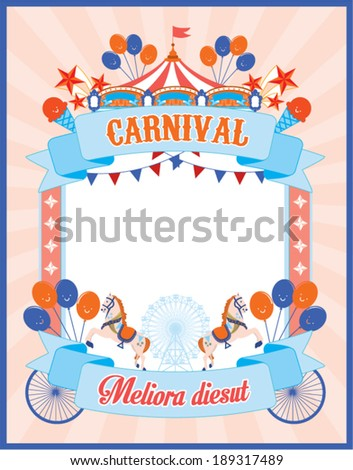 carnival poster template vector/illustration - stock vector