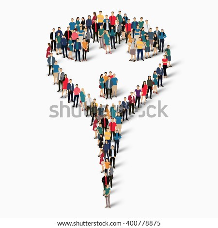 carnival symbol people crowd - stock vector
