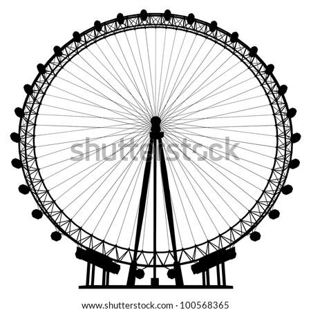 Carousel Silhouette Vector 20 - stock vector