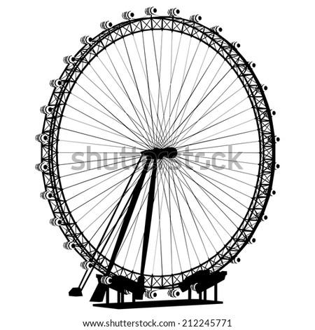 Carousel Silhouette Vector 31 - stock vector