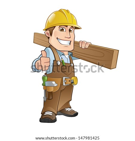 carpenter - stock vector