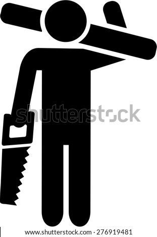 Carpenter Icon - stock vector