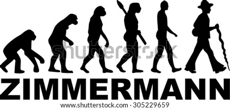 Carpenter Journeyman Evolution - stock vector