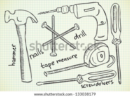 Stock Images similar to ID 101939986 - tool box drawing vector