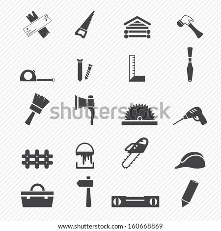 Carpentry icons - stock vector