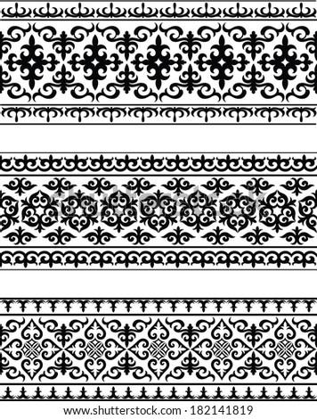 Carpets. Oriental ornament - stock vector