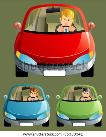 cars - stock vector
