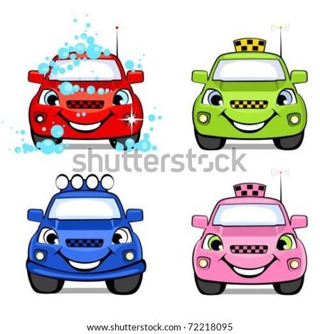 cars cartoon taxi off road car wash