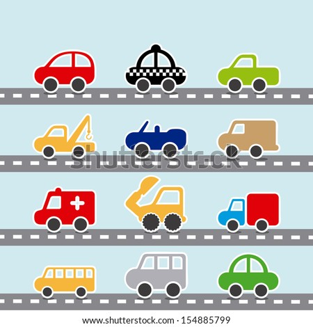 cars design over blue background vector illustration