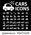 cars icons, signs set, vector illustrations - stock vector