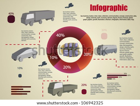 Cars infographics - stock vector