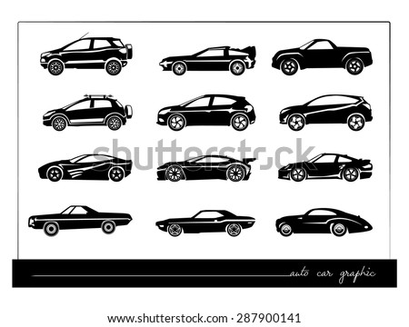cars silhouettes collection