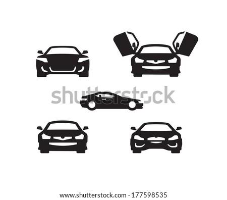 Cars. Vector format - stock vector