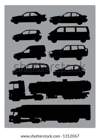 cars (vectors) - stock vector