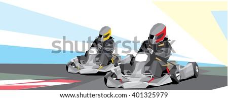 carting - stock vector