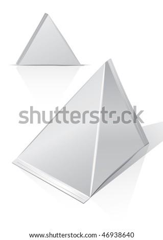 Carton package, for new design, vector - stock vector