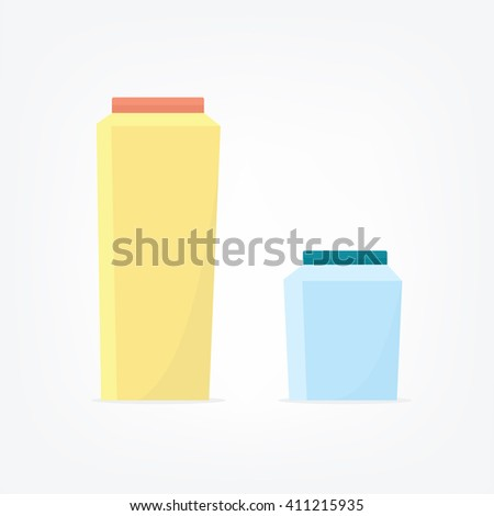 Carton Package. milk box. juice box - stock vector