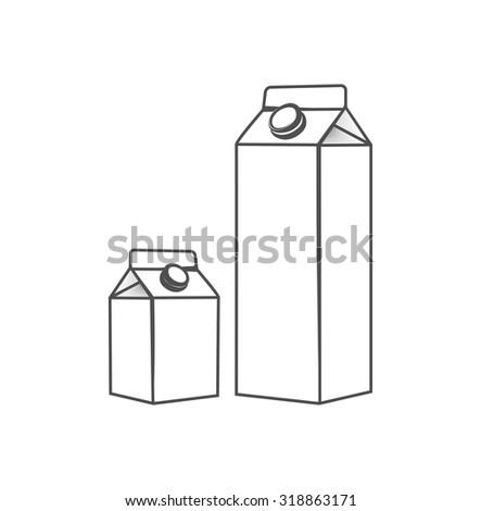 cartons of milk - stock vector
