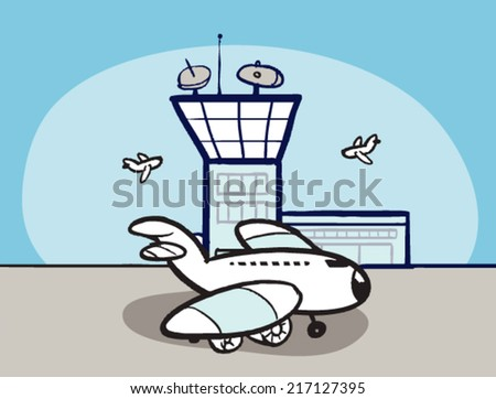 Bored Girl Lying On Fl... Airport Cartoon Images