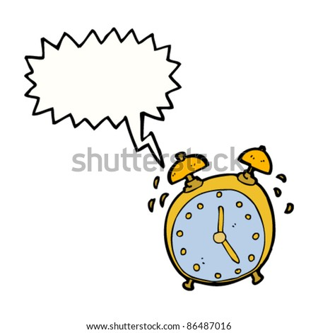cartoon alarm clock - stock vector
