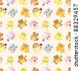 cartoon animal Afternoon Tea time seamless pattern - stock vector
