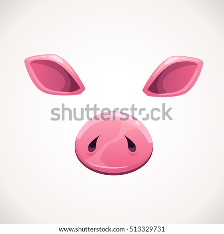 Pig stock vector 197739704 shutterstock pig ears and nose details funny vector assets for your pronofoot35fo Images
